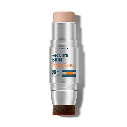 Isdin Foto Ultra Stick & Brush SPF 50+ | Fotoprotector. Protege, cubre y difumina. Especial para Zonas Sensibles y post-procedimiento 1 x 9g