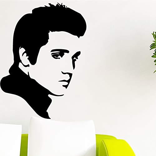 Schöne Mann Wandaufkleber Pvc Wandkunst Aufkleber Moderne Mode Wandsticker Für Kinderzimmer Hintergrund Wandkunst Aufkleber XL 58 cm X 78 cm