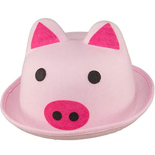 NET TOYS Lustiger Schweinchen-Hut für Erwachsene   Rosa in Größe KW 58   Ausgefallenes Männer-Hut Schwein geeignet für Karneval & Junggesellenabschied