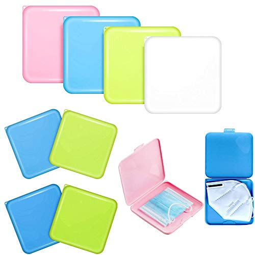 Organizador Caja de Mascarilla de Almacenamiento de Plástico Reutilizable, Estuches de Almacenaje de Plástico Portátiles con Tapas, Almacenaje de Máscara de Prevención Contaminación (Pack 2 Cajas)