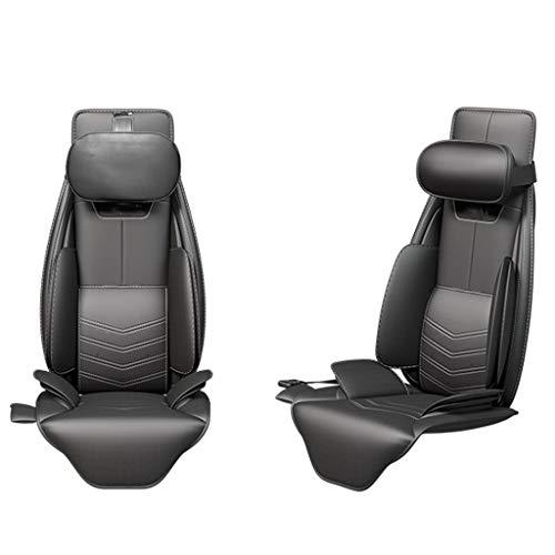 Best Deals! Memory Foam Massage Seat Cushion - Back Massager with Heat,6 Vibration Massage Nodes, Ma...