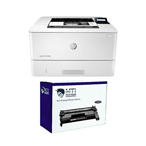 MICR Toner International Laserjet Pro M404dn Magnetic Ink Printer Bundle with 1 HP CF258A 58A MICR Cartridge for Check Printing (Pack of 2)