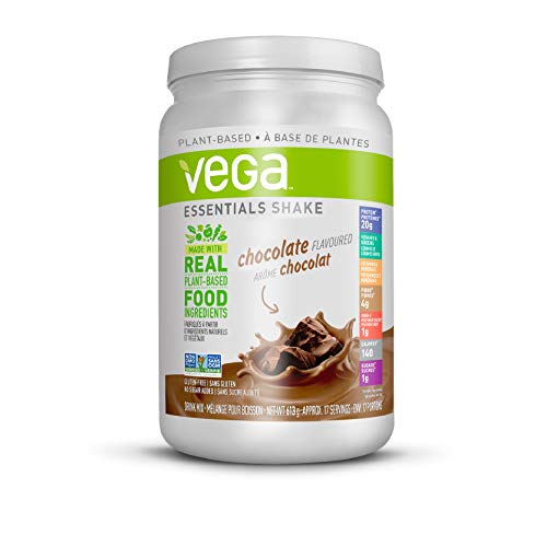 Vega Essentials Nutritional Shake Chocolate (17 Servings, 613g) - Plant Based Vegan protein, Non Dairy, Keto-Friendly, Gluten Free, Non GMO