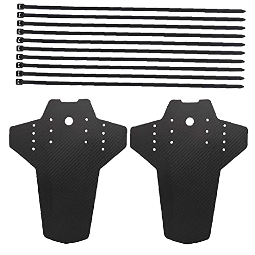 Mud Guard, Mountain Bike Mudguard Set 2pcs Front Rear MTB Bicycle Mudguards 26.5x22x0.08 Cm/10.43x8.66x0.03 Inch