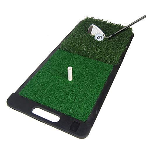 Colchoneta para Columpio de Golf, Almohadilla para práctica Interior Espesa con 1 Camiseta, Grosor de Hierba de 10 mm, 23,6 x 11,8 Pulgadas
