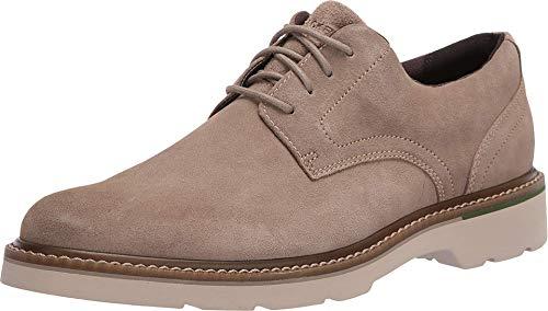 Rockport Men's Charlee Plain Toe Oxford, Sand Suede, Size 12.0