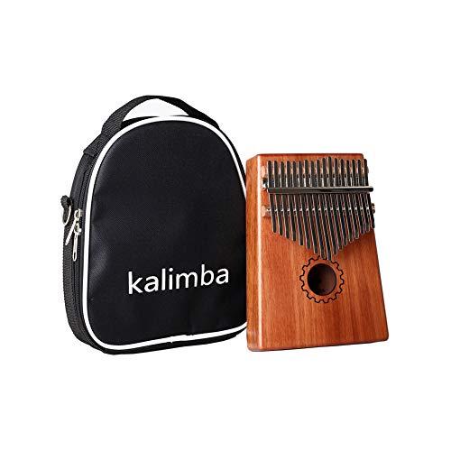 Accrie 17 Key Kalimba Mbira Calimba Africana Mahogany Pulgar Piano Madera Instrumento Musical