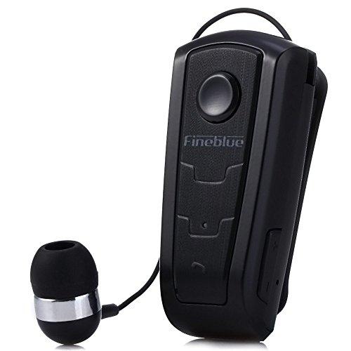 cuffie bluetooth monoauricolare 100% originale in-ear Fineblue F910?wireless Bluetooth V4.0?Headset avviso a vibrazione Wear clip auricolare vivavoce per smartphone (Nero)