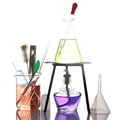 Laboratorium Basischemie Onderwijsapparatuur, Industriële Wetenschappen Verwarming Alcohol Lamp Statief Beaker Test Dropper Set Thuis Laboratorium Supplies, Educatieve benodigdheden