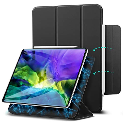 """ESR Hülle kompatibel mit iPad Pro 11"""" 2020, praktischer Magnetverschluss [Unterstützt Apple Pencil Koppeln und Laden] Trifold Standhülle, Smart Hülle, Auto Schlaf-/Weckfunktion - Schwarz"""