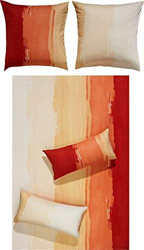 Erwin Müller Bettwäsche Single-Jersey rot-orange Größe 155x220 cm (80x80 cm)