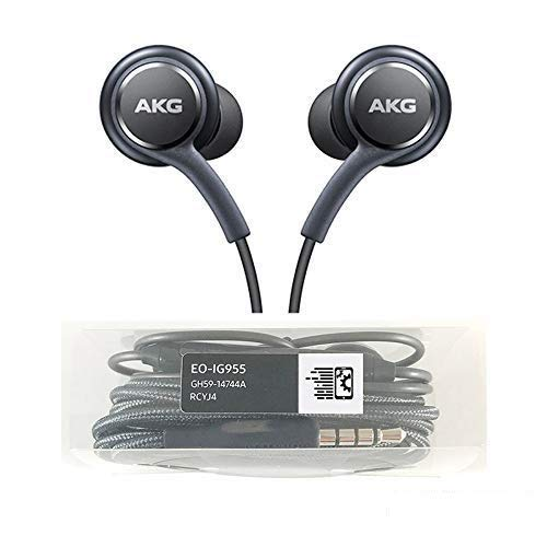 OEM Amazing Stereo Headphones for Samsung Galaxy S8 S9 S8 Plus S9 Plus S10 Note 8 9 - AKG Tuned - with Microphone
