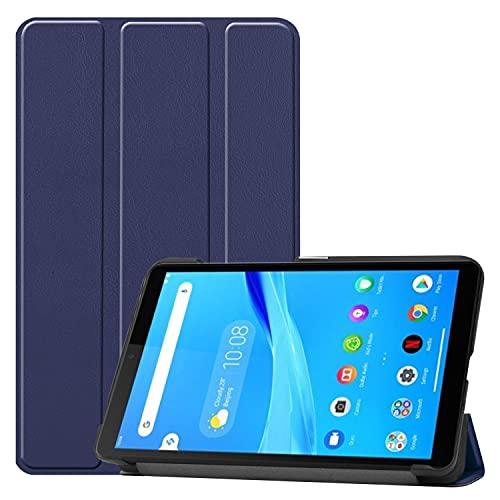 Funda protectora para tablet PC 无休 para la pestaña Lenovo M7 TB-730 Caja de 5x / 7305i / 7305F Caso de tableta de 7 'soporte trifold ligero ORDENADOR PERSONAL Cubierta de espalda dura con tríptico y d