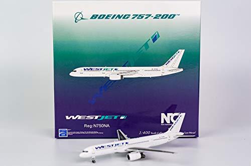 NG Model NGM53122 1:400 WestJet B757-200 Reg #N750NA (pre-Painted/pre-Built)