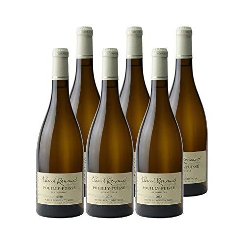Pouilly-Fuissé Aux Chailloux Blanc 2018 - Domaine Pascal Renaud - Vin AOC Blanc de Bourgogne - Lot de 6x75cl - Cépage Chardonnay