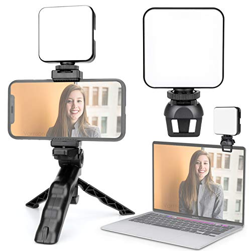 Vamson Video Conference Lighting Kit with Tripod Stand/Zoom Lighting for Computer/Laptop Light for Video for Remote Working/Zoom Calls Webcam Lighting/Self Broadcasting and Live Streaming AVL01
