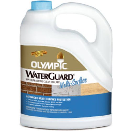 Olympic Stain Waterguard Waterproofing Sealant for Wood, Concrete, Brick, Clear, 1-Gallon