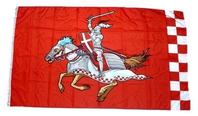 Fahne Ritter mit Pferd rot NEU 90 x 150 cm Flaggen