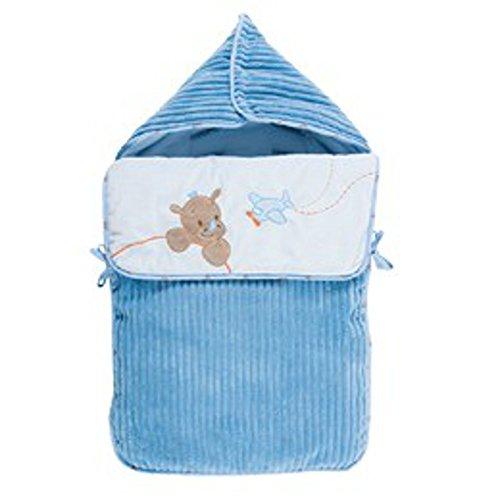 Nattou Baby Schlafsack blau