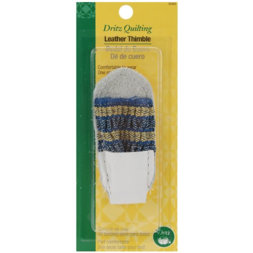 Dritz 3066 Leather Thimble, One Size Fits All , White