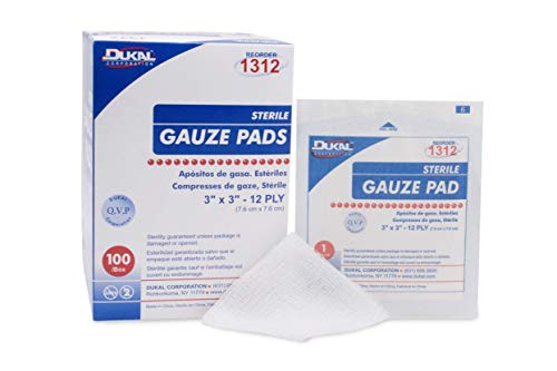 Gauze Pads Sterile 3'' X 3'' 100/box- Packing may vary.