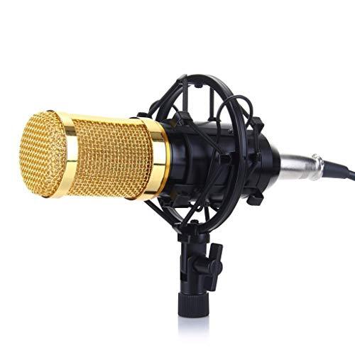 FKSDHDG Kit de micrófono de Condensador Profesional: micrófono para computadora + Soporte de Choque + Tapa de Espuma + Cable como micrófono
