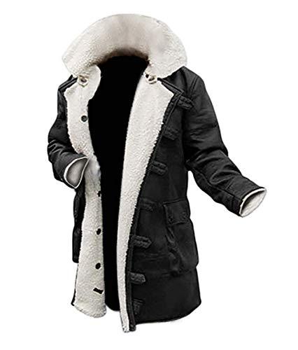 Blingsoul PU Mens Leather Jacket Long Swedish Winter Coat for Mens | [1600215] Bain PU Black (XL)