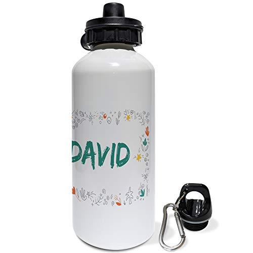 LolaPix Botella de Agua Infantil Personalizada con Nombre. Regalos Infantiles Personalizados. Botella Aluminio Personalizada. Dragón