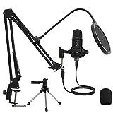 USB Condenser Microphone Mirfak TU1 Professional Computer Gaming Mic Kit with Adjustable Mic...