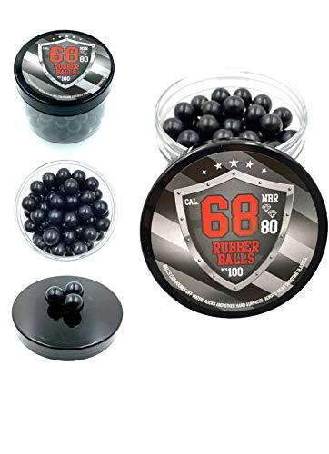 SSR 100 x Premium Quality Hard Rubber Balls Powerballs Paintballs Hart Gummi Kugel für T4E HDS & SG in 68 Cal.
