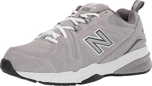 New Balance Men's 608 V5 Casual Comfort Cross Trainer, Grey Suede/Grey Suede, 11 M US