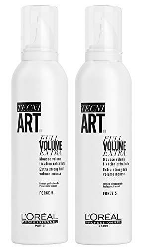 2er Force 5 Mousse Loreal Professionnel Tecni Art Full Volume Extra 250 ml