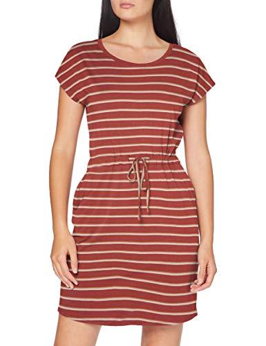 Vero Moda Vmapril SS Short Dress Ga Color Vestito Casual, Marsala, M Donna