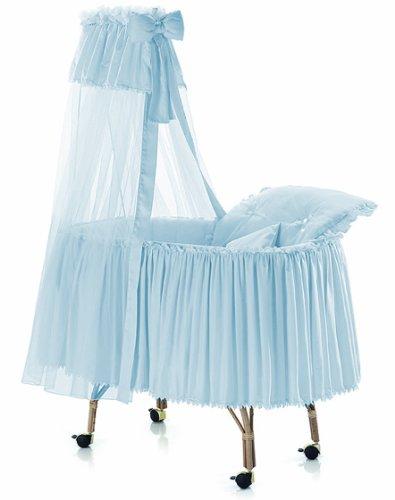 Italbaby 350.9050Marina Romantica Cuna con velo de junco, ruedas giratorias, tela piqué azul...