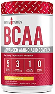 Complete Nutrition Ignite Series BCAA Advanced Amino Acid Complex, Pineapple Cooler, Supports Muscle Recovery, Hydration & Growth, 5g BCAA, 3g Glutamine, 13 oz Tub (30 Servings)