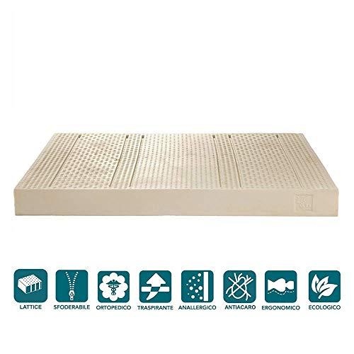 H16 Energy Milk matras voor tweepersoonsbed, 100% latex, 170 x 190 cm