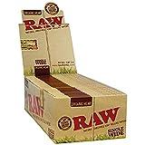 RAW ロー 手巻き用オーガニックヘンプ、ローリングペーパーシングル70mm シャグ 喫煙具 (1箱)
