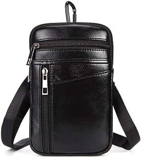 Genuine Leather Belt Clip Pouch Cross Body Bag Small Messenger Sling Shoulder Bags Waist Pack for Men