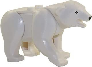 LEGO Animal Minifigure Husky Arctic Sled Dog with Bone Aprox. 1 inch Size