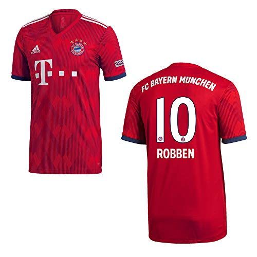 adidas FC Bayern MÜNCHEN Trikot Home Kinder 2019 - Robben 10, Größe:152
