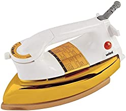 Sanford Heavy Duty Steam Iron Sf21di White And Gold With Adjustable Swivel Cord And Non-stick Coating (golden Teflon)