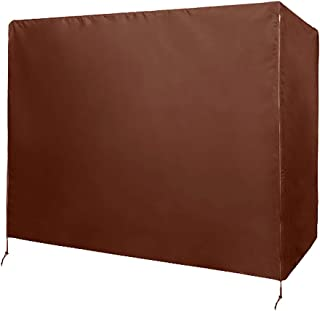 Patio Swing Chair Cover 3 Triple Seater,Outdoor Garden Hammock Glider Chair Cover,Waterproof Windproof Furniture Protector,UV Resistant Swing Canopy Cover,All Weather Protection CYFC90 (Brown)