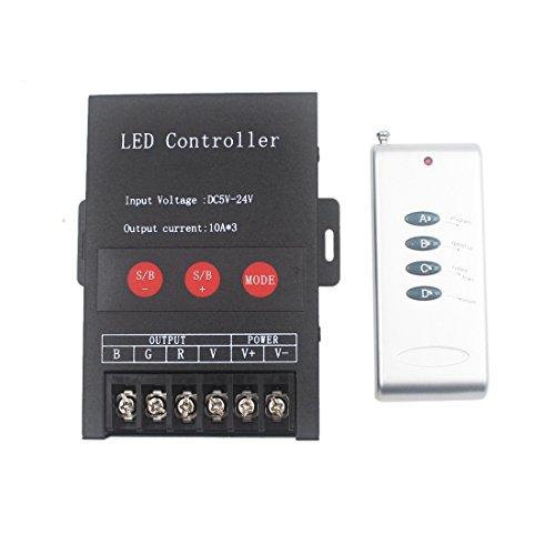 JOYLIT RF Wireless 433GHz RGB Controller DC 12V-24V 12A con telecomando per striscia LED RGB