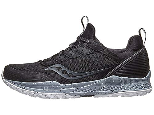 Saucony Men's Mad River TR Trail Running Shoe, Black, 11