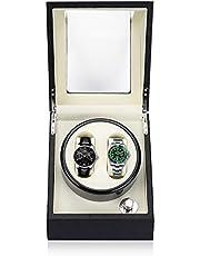 Findbetter ワインディングマシーン 2本 時計 自動巻き上げ機 腕時計 ウォッチワインダー 4つ回転モード 高級 自動巻き時計ケース 電池&電源アダプター 2WAY給電 一年保証期間