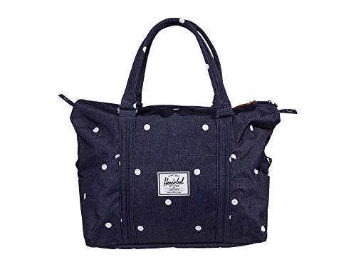 Herschel Strand Shoulder Bag, Polka Dot Crosshatch Peacoat, Classic 28.5L