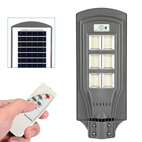 Lixada Wall Street Lights op zonne-energie met afstandsbediening, PIR-bewegingsmelder en verlichtingssensor, inductie van het menselijk lichaam, IP65-waterdichte buitenlamp voor de tuin in in de garage