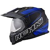 NENKI NK-313 Motorrad Enduro Cross Helm Herren mit Visier und Sonnenblende für Quad ATV...