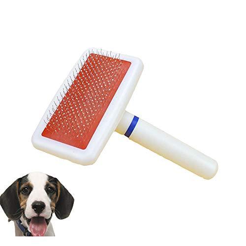 HEYEJET Hundebürste, weich, selbstreinigend, für Hunde, Katzen, langes, mittleres und kurzes Haar, Weiß