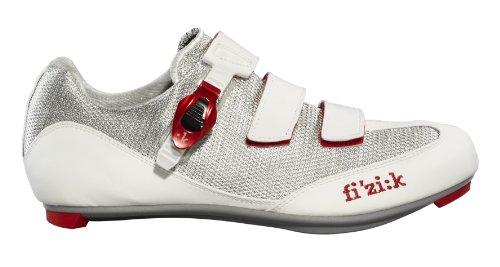 Fizik R5 Uomo Scarpe da Ciclismo da Uomo, Bianco/Rosso, Taglia 44.5